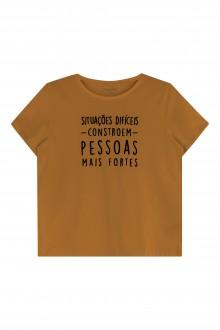 Imagem - Camiseta Feminina Meia Malha Adulto - Marialícia - 478794_8570-MARROM-8570-MARROM