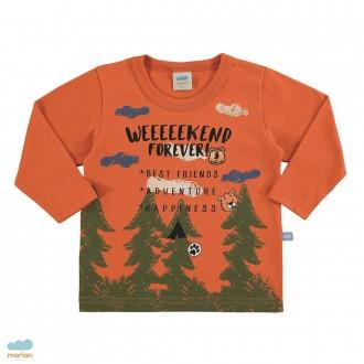 Blusa manga longa floresta masculina infantil - Marlan