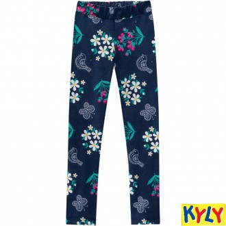 Imagem - Calça Legging de Molecotton Feminino Infantil Kyly - 1532187_6729-MARINHO