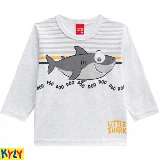 Imagem - Camiseta manga longa meia malha - KYLY - 1031880_0467-MESCLA WHITE
