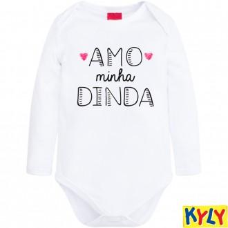 Body Cotton C/ Frases Infantil Kyly