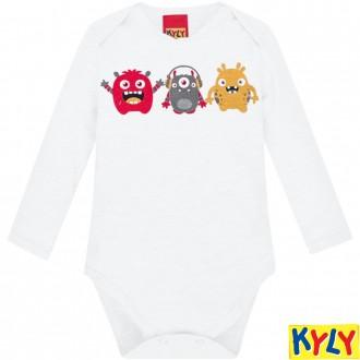 Conjunto Body Masculino Infantil Algodão Kyly