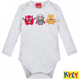 Imagem - Conjunto Body Masculino Infantil Algodão Kyly - 1532143_0467-MESCLA WHITE