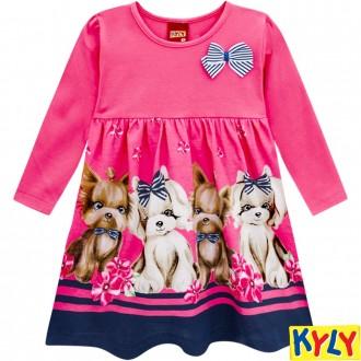 Imagem - Vestido de Malha Feminino Infantil Kyly - 1532132_40054-ROSA CONFETTI