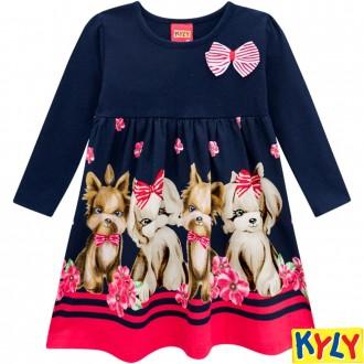 Vestido de Malha Feminino Infantil Kyly