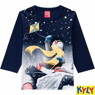 Camiseta Meia Malha Masculino Infantil Kyky