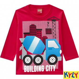 Camiseta Meia Malha Masculina Infantil Kyly