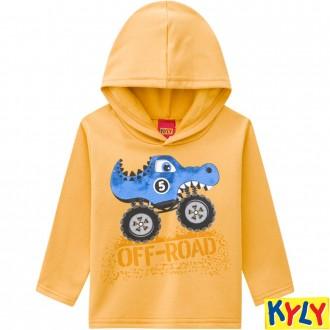 Imagem - Conjunto Moletom C/ Capuz Masculino Infantil  Kyly - 1532149_2735-AMARELO QUEIMADO