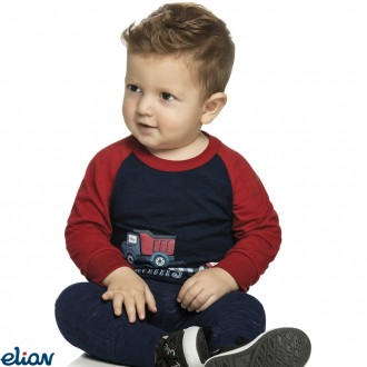 Imagem - Camiseta meia malha - ELIAN - 478346_6751-jeans escuro