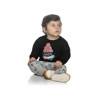 Imagem - Conjunto Moletom Masculino Infantil Elian - 478735_7001-PRETO