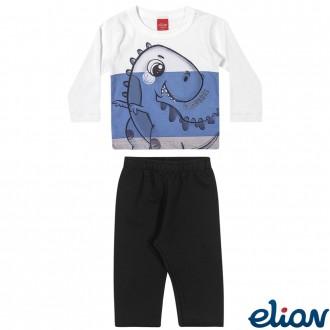 Conjunto de Malha C/ Moletom Masculino Infantil Elian