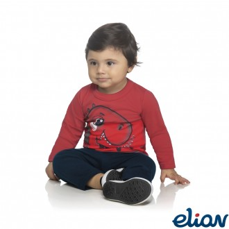 Imagem - Conjunto de Malha C/ Moletom Masculino Infantil Elian - 478737_4430-TOMATE