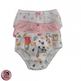 Imagem - Kit com 3 calcinhas infantil Luna - 46129_SORTIDO
