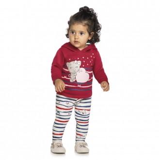 Imagem - Conjunto Feminino Infantil Moletom Elian - 478738_4580-VERMELHO
