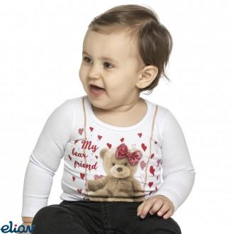 Imagem - Blusa de Feminina Infantil Cotton - ELIAN - 478353_2001-BRANCO