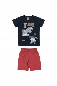 Imagem - Conjunto Infantil Masculino de Malha e Tactel - Elian - 478837_6751-MARINHO-6751-MARINHO