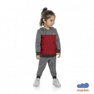 Imagem - Conjunto Masculino Moletom Infantil Marlan - 494213_PT0001-PRETO