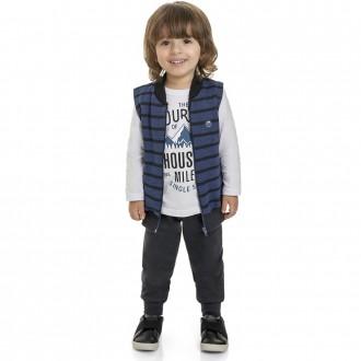 Imagem - Conjunto Malha C/ Colete Masculino Infantil Marlan - 494244_AZ0097-COSMIC