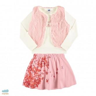 Imagem - Conjunto blusa com colete e saia - MARLAN - 494124_bg0016-marfim