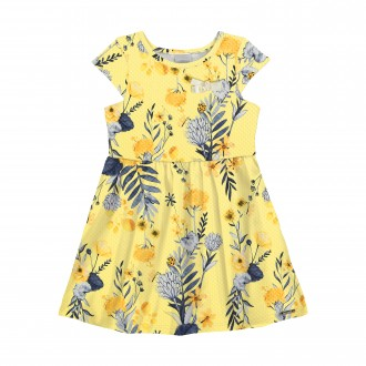 Imagem - Vestido para Bebê de Malha Farvo - Alakazoo! - 1393727_00760--AMARELO ROSITA