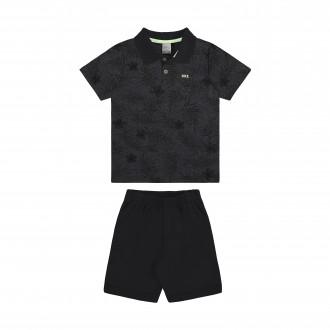 Imagem - Conjunto Masculino Infantil com Camisa Polo e Moletom - Alakazoo! - 1393719_156-PRETO REATIVO