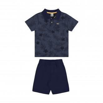 Conjunto Masculino Infantil com Camisa Polo e Moletom - Alakazoo!