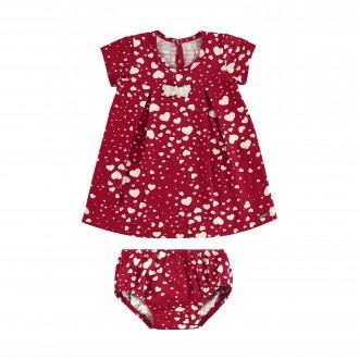 Vestido para Bebê de Malha Nikko com Calcinha - Alakazoo!