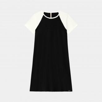 Vestido malha crepe Lunender 37972