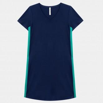Vestido malha crepe Lunender 37994