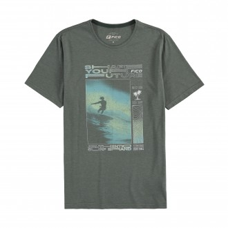 Imagem - Camiseta Masculina Meia Malha Adulto- FICO - 1679099_13217-VERDE FURIA