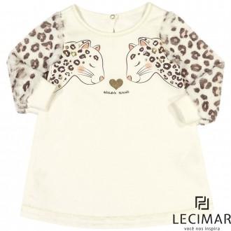 Imagem - Vestido Em Moletom Feminino Para Criança Lecimar - 479988_8052-SNOW WHITE