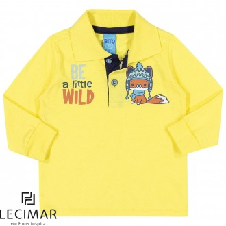 Camisa Polo Em Meia Malha Penteada Masculino Para Bebê Lecimar