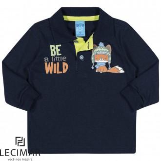 Imagem - Camisa Polo Em Meia Malha Penteada Masculino Para Bebê Lecimar - 479962_6002-MARINHO