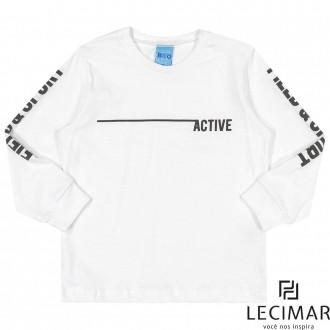 Imagem - Camiseta Meia Malha Penteada Masculino Para Bebê Lecimar - 479970_100-BRANCO
