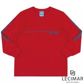 Imagem - Camiseta Meia Malha Penteada Masculino Para Bebê Lecimar - 479970_4080-PIMENTA