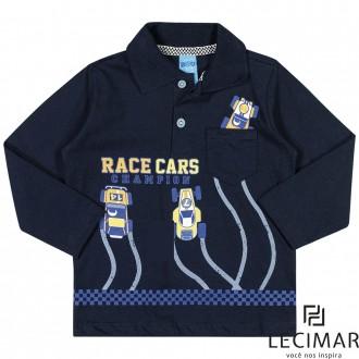 Imagem - Camisa Polo Em Meia Malha Penteada Masculino Para Bebê Lecimar - 479971_6002-MARINHO