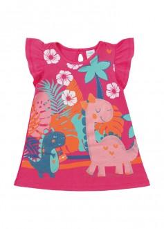 Imagem - Vestido Meia Malha Para Bebê - MARLAN - 494277_RS0125---ROSA POP