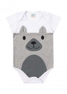 Body Masculino Suedine Para Bebê - MARLAN