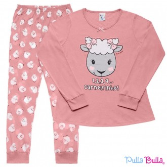 Imagem - Pijama Malha Feminino Pulla Bulla - 2037075_ROSA CRAVO-ROSA CRAVO