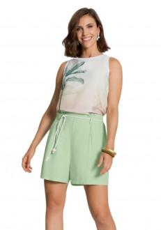 Imagem - Shorts Feminino Adulto Tecido Rayon Twill - Lunender - 1679174_371--VERDE ORION