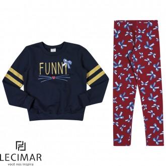 Imagem - Conjunto Blusão E Legging Feminino Para Criança Lecimar - 479978_6002-MARINHO