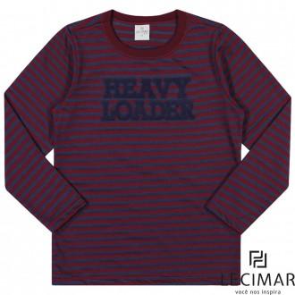 Imagem - Camiseta Em Meia Malha Listrada Masculino Para Criança Lecimar - 479981_4110-VINHO TINTO