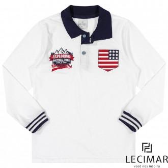 Camisa Polo Em Meia Malha Masculino Para Criança Lecimar