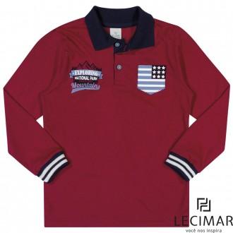 Imagem - Camisa Polo Em Meia Malha Masculino Para Criança Lecimar - 479982_4017-CEREJA