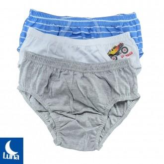 Imagem - Kit com 3 Cuecas infantil Luna - 46141_SORTIDO