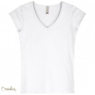 Imagem - Blusa Basica Cotton Decote V Feminino Adulto - Elian - 478575_2001-BRANCO