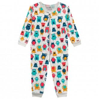Pijama Macacão Masculino Infantil Brandili