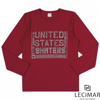 Imagem - Camiseta Em Meia Malha Penteada Masculino Para Criança Lecimar - 479986_4017-CEREJA