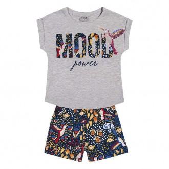 Imagem - Conjunto Meia Malha Com Shorts Moletom Juvenil - NANAI - 420928_mescla-mescla