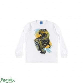 Imagem - Camiseta Meia Malha Masc Infantil Romitex - 2027691_10001-BRANCO